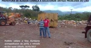 Prefeitura de Alagoa começa a solucionar antigo problema do lixo