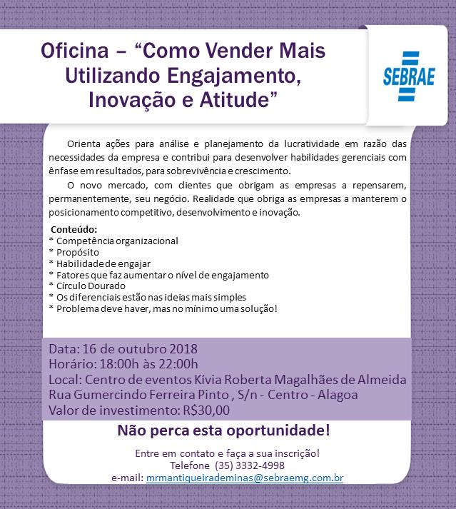 db33def4a6ac7a SEBRAE realizará oficina em parceria com a Prefeitura de Alagoa ...