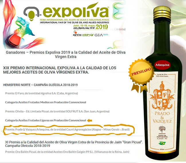 Azeite de Alagoa é o Melhor do Hemisfério Sul